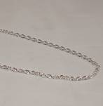 JULIE HEAVY CABLE CHAIN SILVER PLATED 3.7X4.5MM (1 MTR)