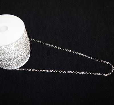 JULIE CHAIN HEAVY CABLE SILVER PLATED 3.6X4.6MM (1 MTR)