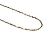 LAURENCE CABLE CHAIN ANTIQUE BRASS 3.5X4MM (1 MTR)