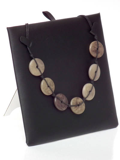 NECKLACE/PENDANT DISPLAY PAD BLACK VINYL