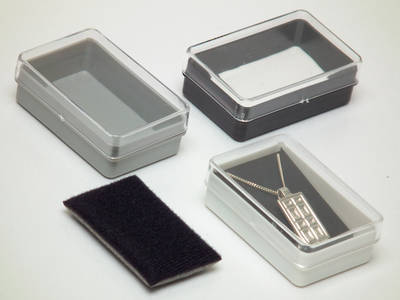 NO26 PLASTIC BOX CLEAR LID GREY BASE (1 DOZ)