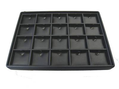PENDANT TRAY 20 CLIPS VINYL BLACK