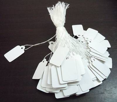 ECONOMY WHITE STRINGTAGS (1000 PACK)