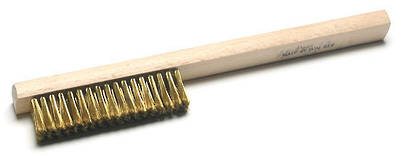 BRASS WIRE HAND BRUSH - FINE