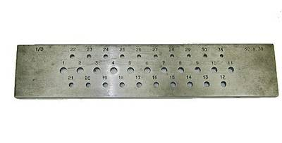 DRAWPLATE ROUND 3 - 6mm 31 HOLES