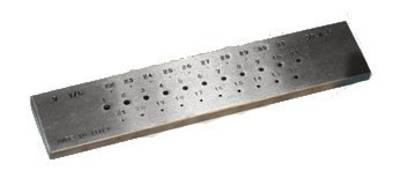 DRAWPLATE ROUND 0 - 1mm 20 HOLES