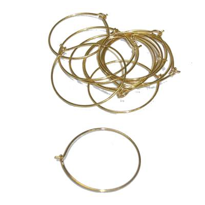 "HOOP EAR WIRES 0.75""/19MM GOLD PLATED (10 PAIRS)"