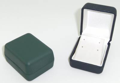 LI7 - EARRING BOX VINYL GREEN WHITE FLAP