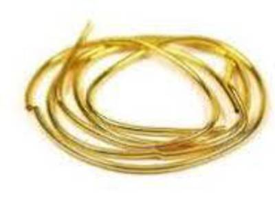 GIMP/FRENCH WIRE 1.0MM GOLD PLATED (1 MTR)