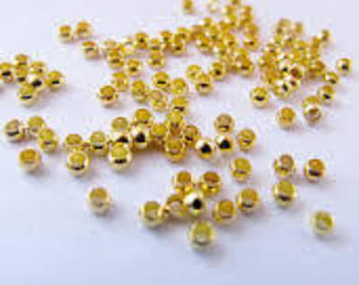 CRIMPS GOLD PLATED 2X1.3MM (5 GRAMS)