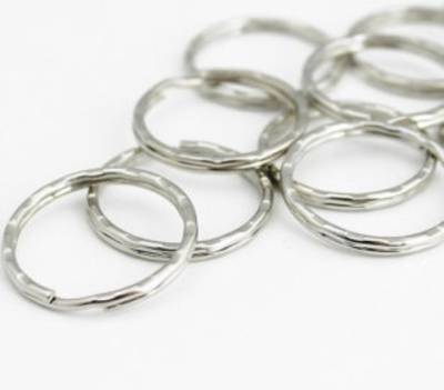 KEY RING DONUT STAINLESS STEEL 21MM BULK (500 PACK)