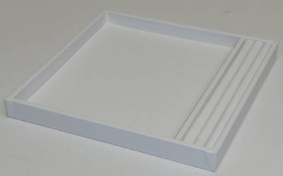 SMALL PRESENTATION/DISPLAY TRAY W/ROLL WHITE VINYL