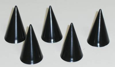 SMALL CONE RING STAND BLACK (5 PACK)