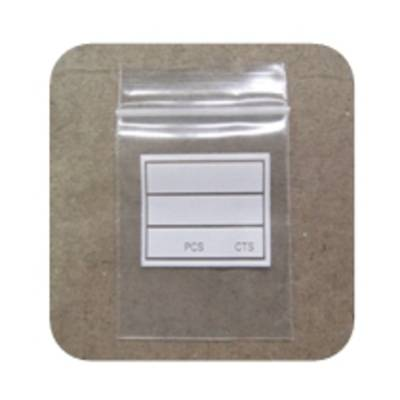 PLASTIC ZIP BAG + WRITING PANEL 40 x 50MM (100 PACK)