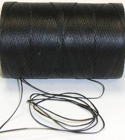 BLACK WAXED JEWELLERY CORD 1.4MM (10 MTRS)