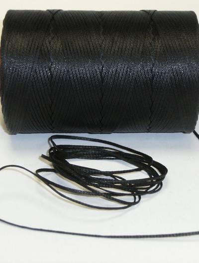 BLACK WAXED JEWELLERY CORD 1.6MM (10 MTRS)