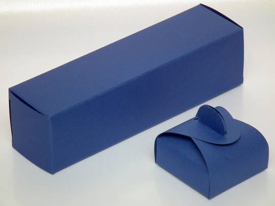 CHARM BOX CARDBOARD MATT BLUE (1 DOZ)