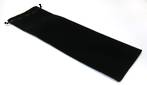 "VELVET POUCH EXTRA LONG ""GREENSTONE"" BLACK/BLACK 120X360MM"