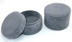 DELUXE ROUND MEDIUM MULTI BOX CHARCOAL SUEDE