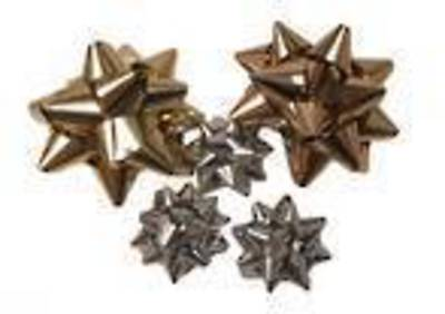 BOWS SMALL GOLD & SILVER MIXED (100 PCS)