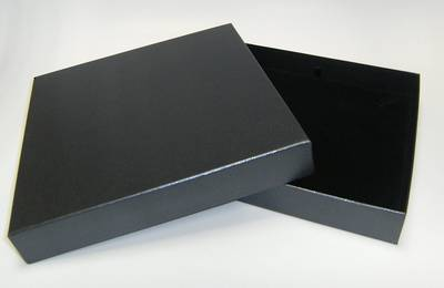 CB20 - NECKLACE BOX CARDBOARD CHARCOAL BLACK PAD