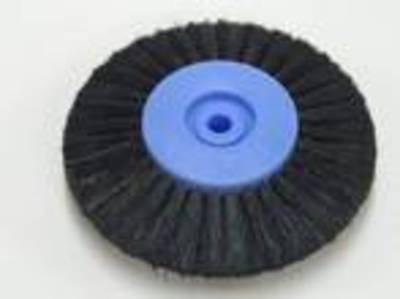 CIRCULAR BLACK BRISTLE LATHE BRUSH 80mm